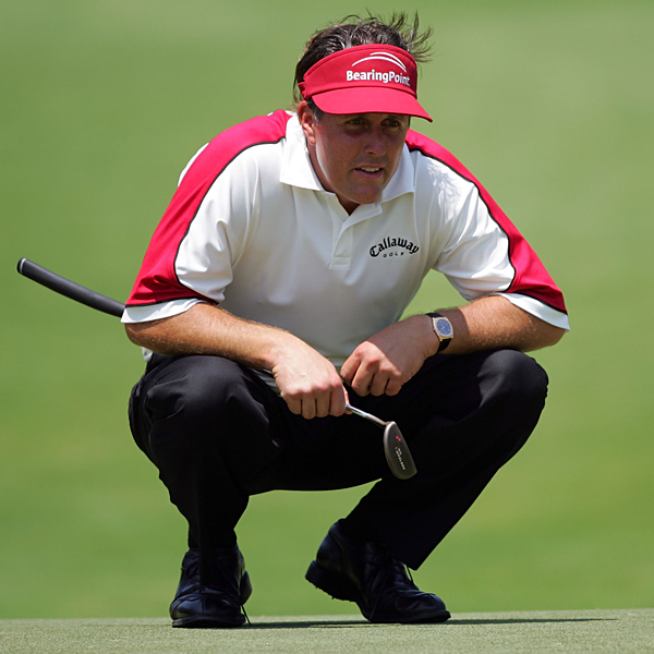 Mickelson made only 23 putts in his second round.