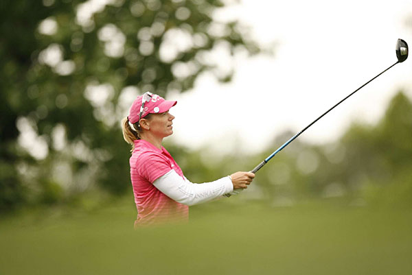 Sorenstam had five birdies on the back nine, including three in a row, before a bogey on the final hole.