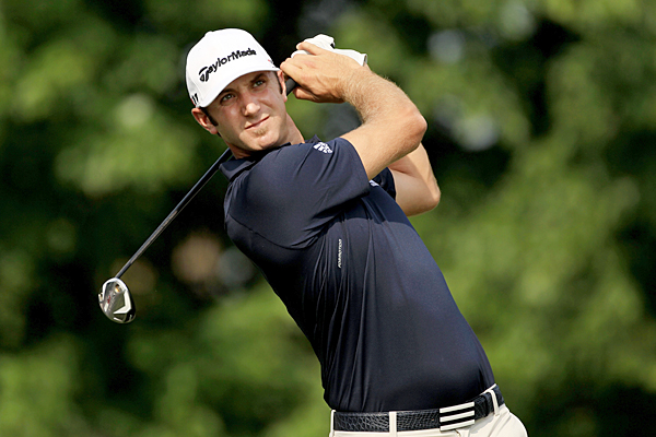 Dustin Johnson shot a 2-under 70 despite a double bogey on the par-5 16th.