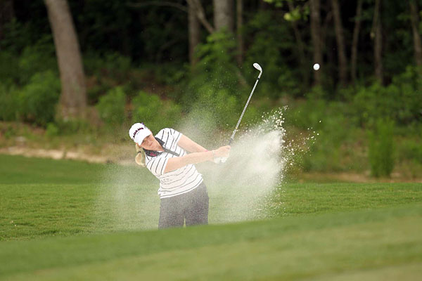 opened with a bogey, but then she made four birdies and an eagle for a 67.