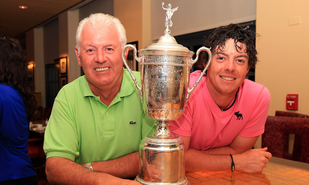Rory and Gerry McIlroy                     Gerry McIlroy could hardly contain his excitement after his son's victory at the 2011 U.S. Open.