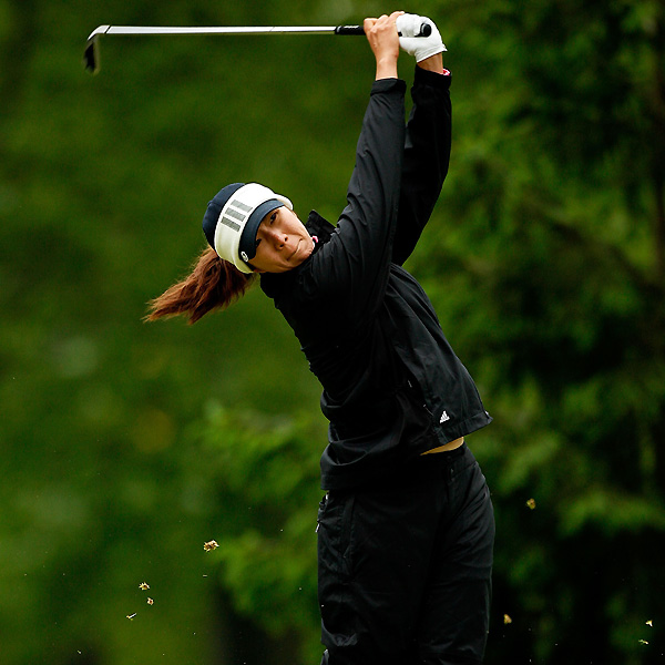 Sarah Lee, who finished third last week, is tied for the lead at the Sybase Classic.
