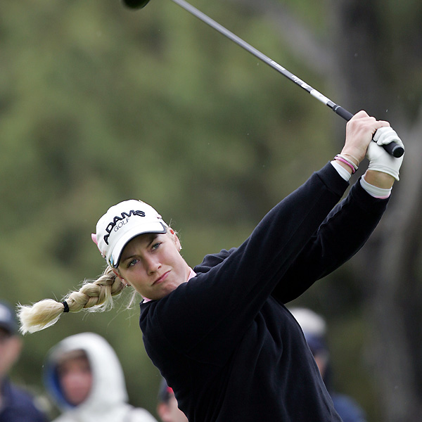 Brittany Lincicome tumbled down the leaderboard with a five-over 77.