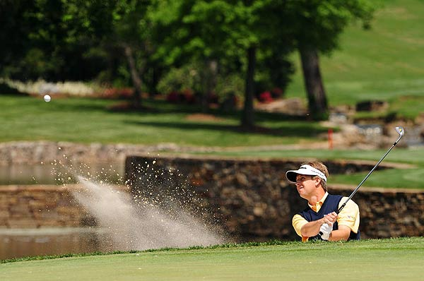 First Round of the Wachovia Championship                     David Toms, who won the Wachovia Championship in 2003, holds the first round lead at five under par.
