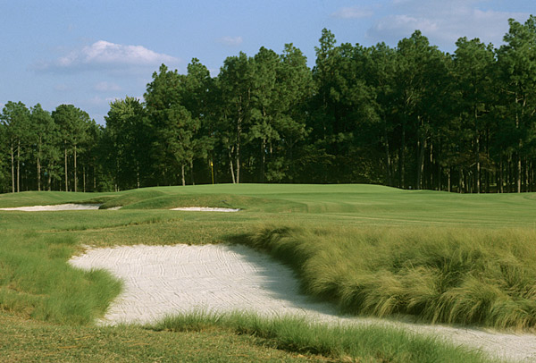 Village of Pinehurst, N.C.                     Ryder Cups hosted: 1951                     Imagine those greens back then.
