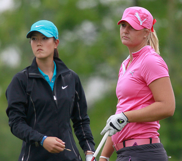Michelle Wie rallied to beat Anna Nordqvist in 20 holes.