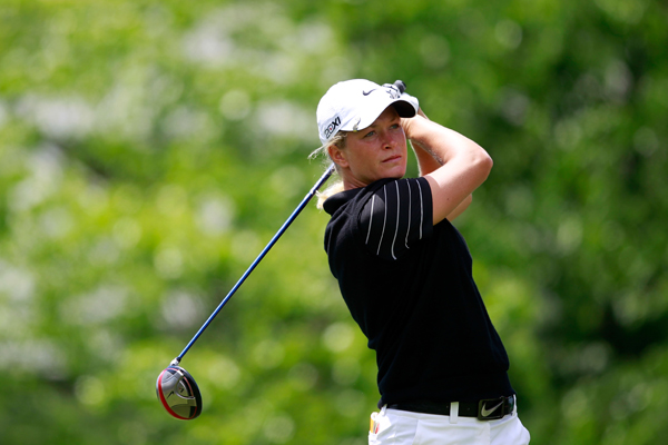 Suzann Pettersen beat Yani Tseng, the No. 1 player in the world, and faces Na Yeon Choi on Sunday morning.
