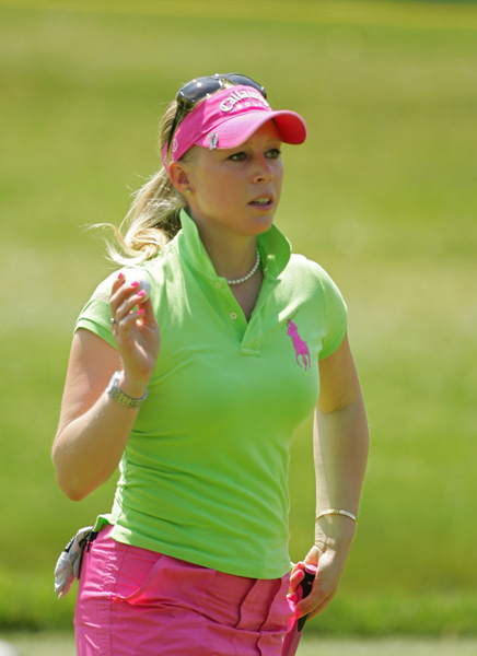 Morgan Pressel shot a three-under 69.