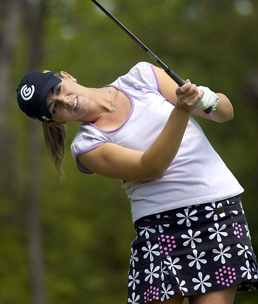 Third Round of the Corning ClassicErica Blasberg made three birdies, three bogeys and an eagle for a 70.
