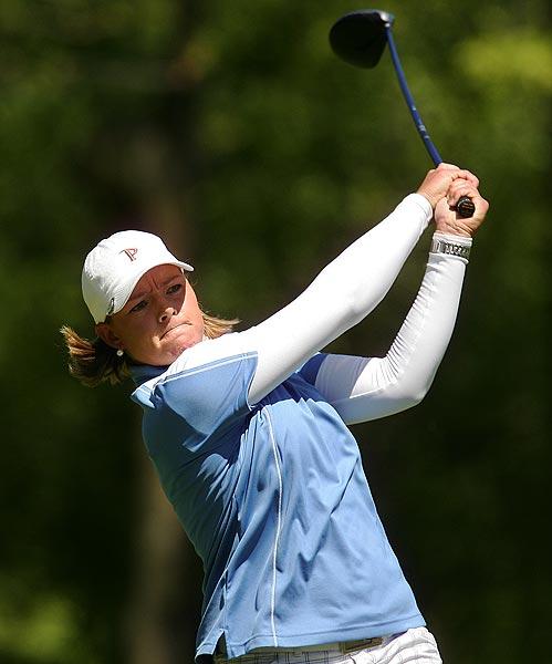 Katherine Hull finished at five under par.