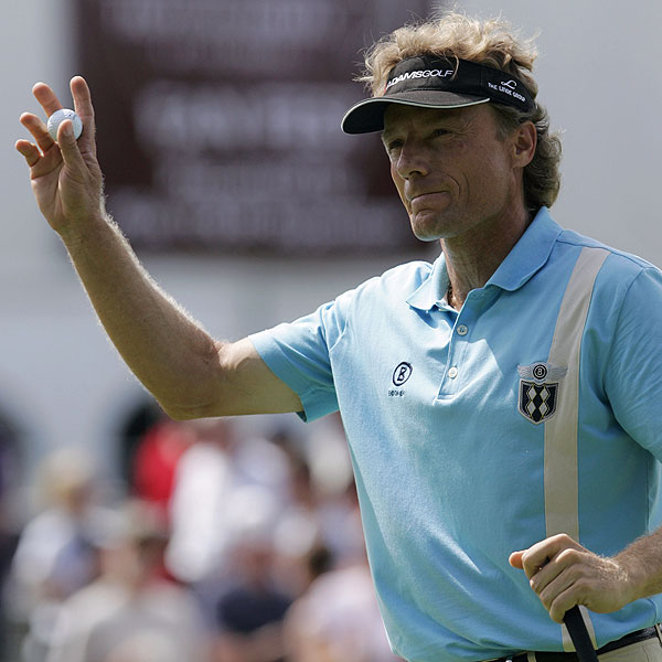The 49-year-old Bernhard Langer, who has not won since 1993, shot a final-round 65.