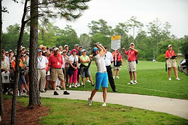 Sorenstam opened her round with a bogey on the par-4 first hole.