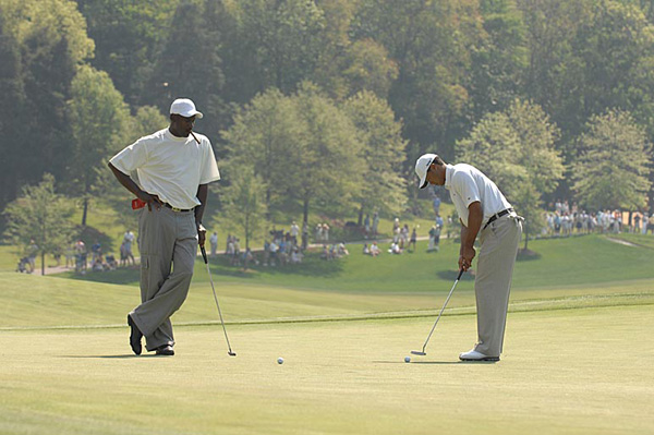 """Whether it's playing golf or playing cards or just hanging out, whatever it is, we're always having a great time, always needling each other,"" Woods said. ""There's always a wager of some sort on anything we do because we always want to one-up one another, and that's the nature of how we are, and I think that's also one of the reasons why we've been able to accomplish the things that we've been able to accomplish."""