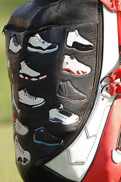 Jordan's golf bag.
