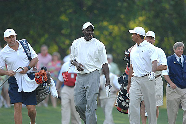 The 2007 Wachovia Championship Pro-AmTiger Woods and Michael Jordan teed off Wednesday morning for the pro-am at the Wachovia Championship.