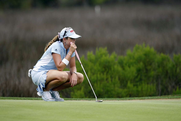 Paula Creamer struggled on Friday, shooting a two-over 74.