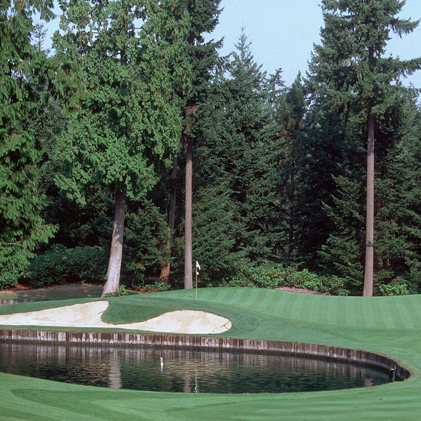 8. Sahalee Country Club (North/South)                     Sammamish, Wash.                                          It makes for a great nature walk, but as golf course designs go, there isn't much to savor at the site of the 1998 PGA Championship. The flat fairways are so hemmed in by trees that fat guys have to walk single file, and the oval-shaped greens and bunkers are numbingly predictable.                                          No. 9                                                               • Most Underrated | Most Exclusive                     • All Course Rankings