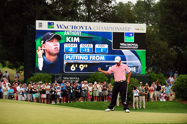 Third Round of the Wachovia ChampionshipAnthony Kim made six birdies and no bogeys to grab a four-shot lead as he seeks his first Tour title.
