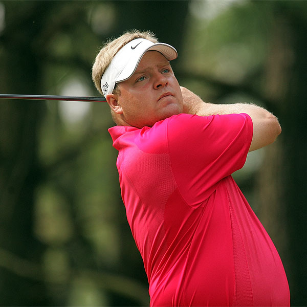Sweden's Carl Pettersson is two strokes off the clubhouse lead at 4 under par.