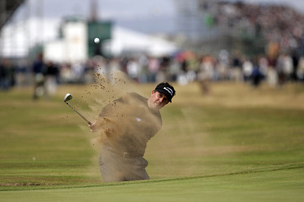 While he didn't win another major in 2004, Mickelson had a remarkable run of close calls. He finished second at the U.S. Open, third at the British (pictured) and T6 at the PGA, beating Woods in all three events.