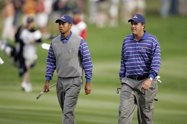 At the 2004 Ryder Cup at Oakland Hills, U.S. captain Hal Sutton paired Woods and Mickelson for the first time. The decision backfired as the duo lost to Colin Montgomerie and Padraig Harrington, and to Darren Clarke and Lee Westwood. Woods and Mickelson have not teamed up since.