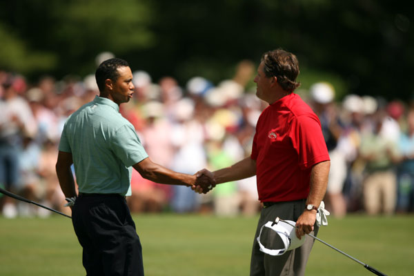 Tiger Woods and Phil Mickelson have been rivals throughout their careers. Here's a look back at some of the key moments in their rivalry.