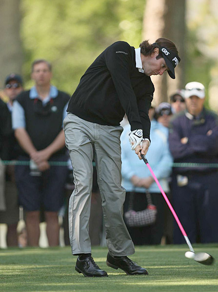 Bubba Watson made four birdies and four bogeys for a round of 72.