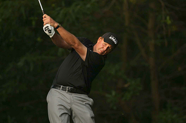 Phil Mickelson is only three shots off the lead after a 6-under 66.