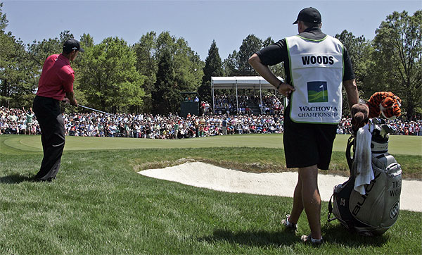 Tiger Woods finished at 13-under 275, the lowest score to win the Wachovia Championship.