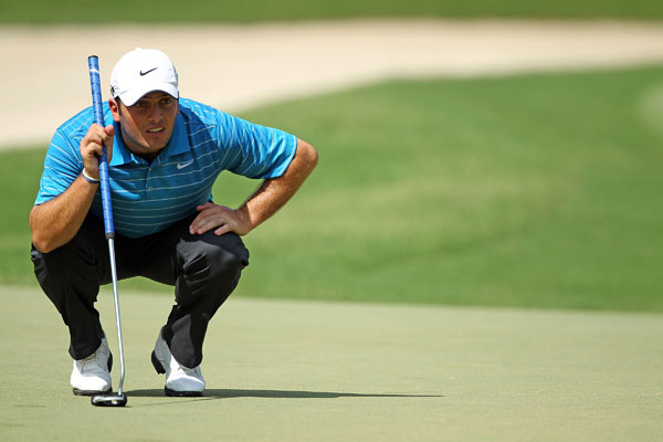 is tied for second thanks to a bogey-free 65.