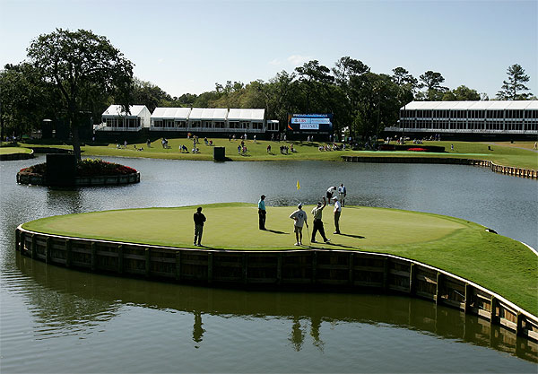 """I don't agree with it being the 17th or 71st hole of a championship because I just think that it is a little gimmicky in that sense. I think it's a great 8th hole or another part of the golf course,"" Woods said of the notorious No. 17 at TPC Sawgrass."