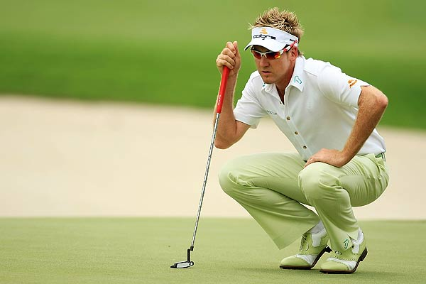 Ian Poulter double bogeyed the par-4 15th hole.