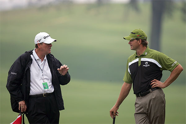 Last year's runner up Retief Goosen talks with his coach Gregor Jameson of Scotland.                        • See the latest news and photos about Retief Goosen