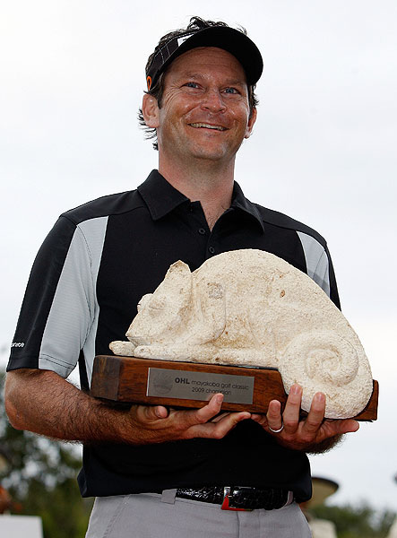 Mark Wilson spent all week trying to avoid the lizards at the 2009 Mayakoba Golf Classic in Mexico, only to be sent home with one for winning.