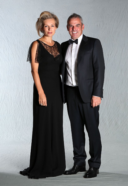 European assistant captain Paul McGinley and his wife, Ally.