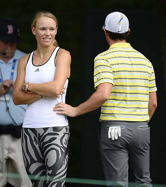 """Just because we changed our Twitter profile picture doesn't mean that we're not together.""                     Rory McIlroy denying reports that he and Caroline Wozniacki have split. Wozniacki attended the Deutsche Bank Championship with McIlroy later in the week."