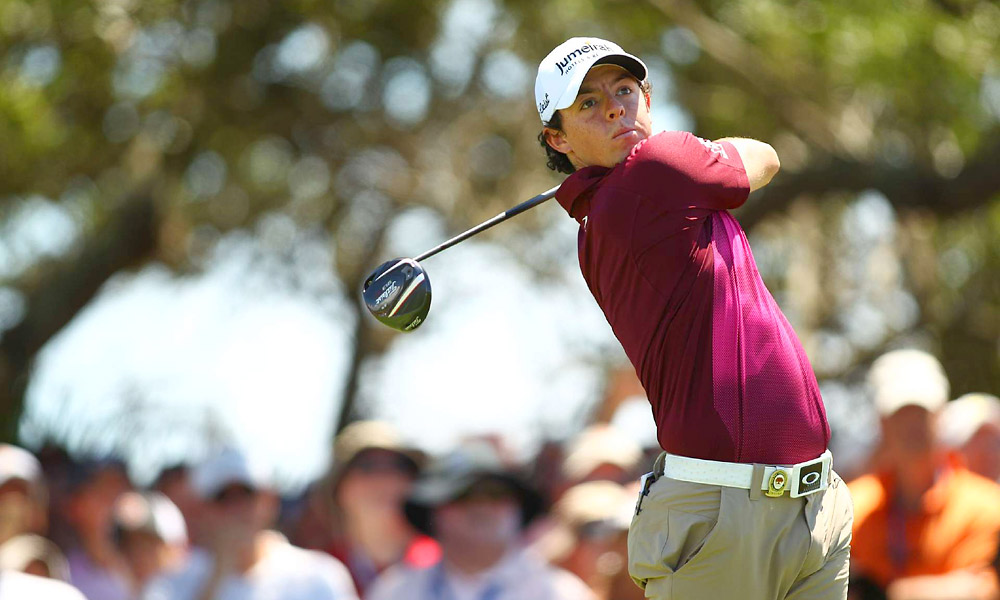 Rory McIlroy fired a bogey-free 67 to get within one shot of the lead.