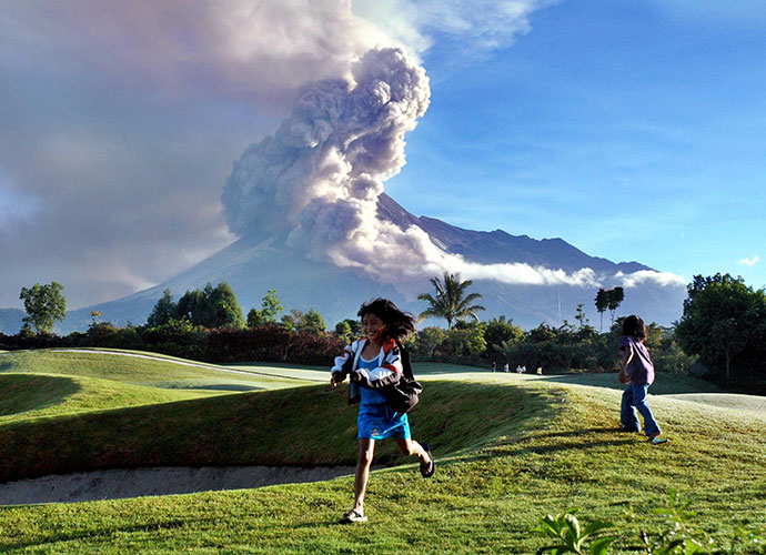 Merapi Golf Course, Indonesia: That shaking in your hands could be first tee jitters. But it also might be brought on by Mt. Merapi, an active volcano that looms over this otherwise placid 18. Several eruptions have occurred in recent years, including a disaster in 2010 in which ash, smoke and lava flow caused more than 350 deaths.