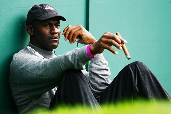 """Trade one of my six [NBA] rings                       for a green jacket? That's a tempting offer.""                                                                                            Michael Jordan, 47, won six NBA championships with the Chicago Bulls. He hosts the annual Michael Jordan Celebrity Invitational golf tournament in Paradise Island, Bahamas."
