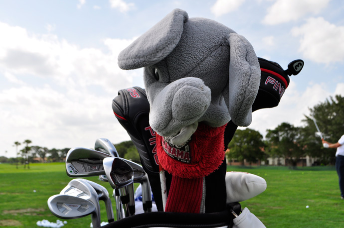 Roll Tide!  'Bama grad Michael Thompson has Ping S56 irons and forged Ping Anser wedges.