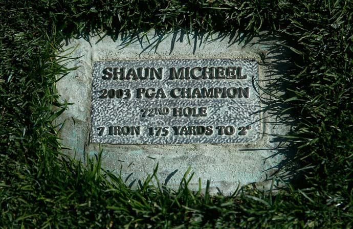 If you don't know why this plaque is on the 18th fairway at Oak Hill, watch this video.