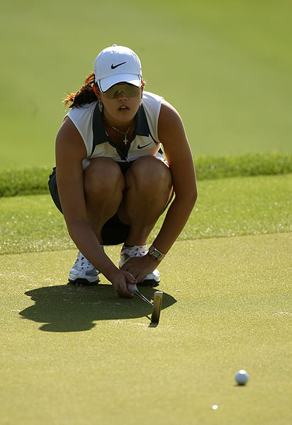 Michelle Wie finished her round with a birdie. She is at one under par.