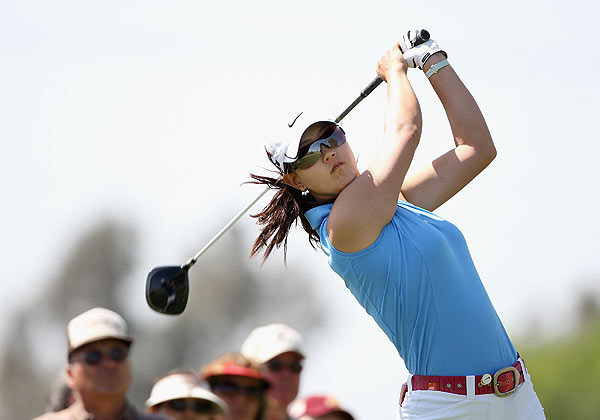 First Round of J Golf Phoenix LPGA International                   Michelle Wie is five strokes off the lead at one over par.