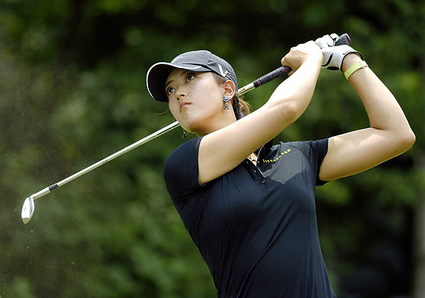 Michelle Wie is just five shots behind leader Sandra Gal.