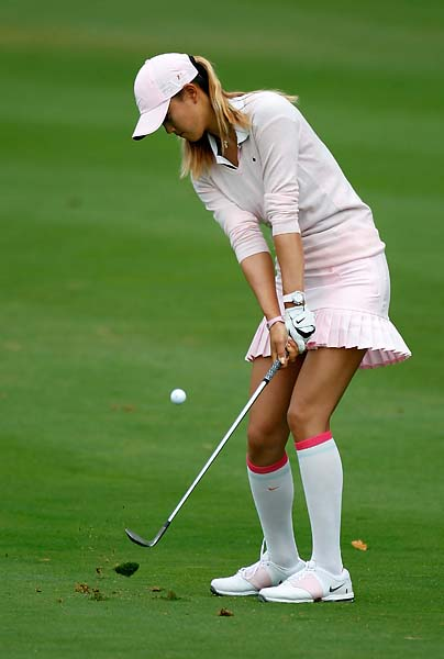 Michelle Wie at the Safeway Classic at Pumpkin Ridge Golf Club on Aug. 18, 2012, in North Plains, Ore.