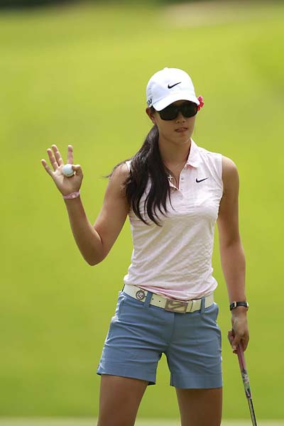 Michelle Wie at the 2011 U.S. Open at Broadmoor East in Colorado Springs, Colo.