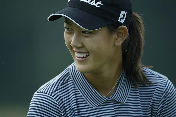 Michelle Wie at the 2003 LPGA Shoprite Classic Golf Tournament in Galloway Township, N.J.
