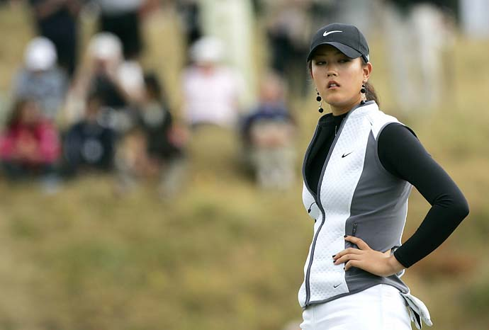 Michelle Wie during practice rounds at 2006 British Open at Royal Lytham & St. Annes.