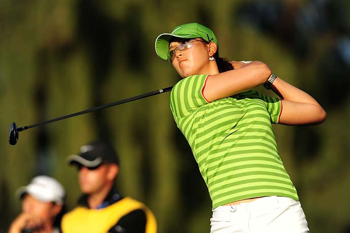 Michelle Wie plays a home game at the 2009 SBS Open at Turtle Bay in Hawaii.