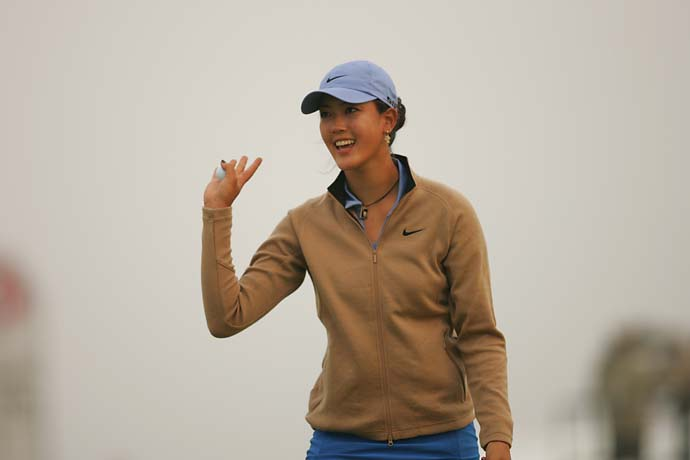 Michelle Wie at the 2006 U.S. Women's Open at Newport CC in Newport, R.I.